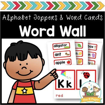Word Wall Cards and ABC Toppers for Pre-K and Kindergarten ~ Red