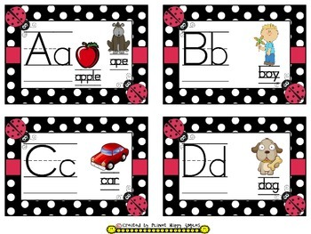 Word Wall Cards and Sight Words(150) ~ Ladybug Theme