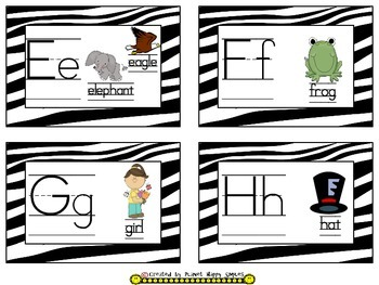 Word Wall Cards and Sight Words(150) ~ Zebra Print