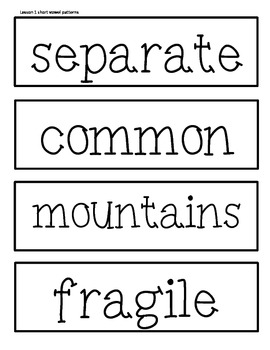 Word Wall Cards for 5th Grade