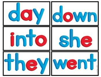 Word Wall Cards - Sight Words for Kindergarten & First Grade Jan Richardson