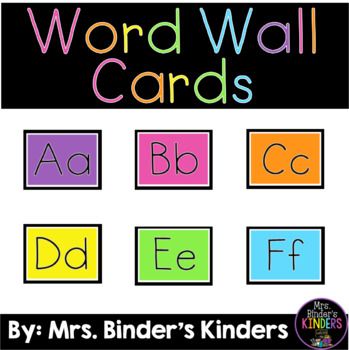 Word Wall Cards - bright colors