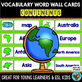 Word Wall Cards with Pictures: Continents