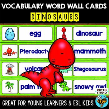Word Wall Cards with Pictures: Dinosaurs