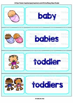 Word Wall Cards with Pictures for ESL Students and Young Learners: Human Stages