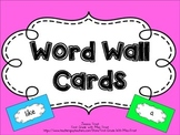 Word Wall Cards**Bright Colors**