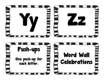 Word Wall Celebrations and Letters