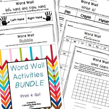 Word Wall Center Activity Sheets BUNDLE!