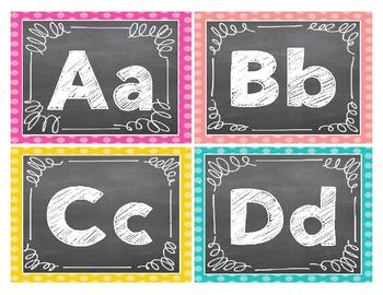 Word Wall Chalk Letters {FREEBIE}