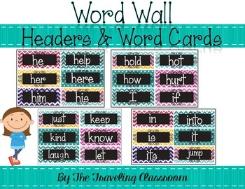 Word Wall {Chalkboard Chevron Polka Dot}