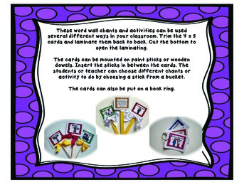Word Wall Chants and Activities