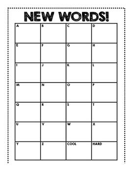 Word Wall Chart