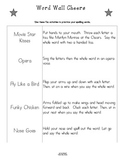 Word Wall Cheers - 48 Fun Cheers to Practice Spelling - Great for Transitions