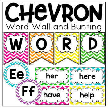 Word Wall Display in a Chevron Classroom Decor Theme