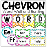 Word Wall Display in Chevron Classroom Decor for Back To School
