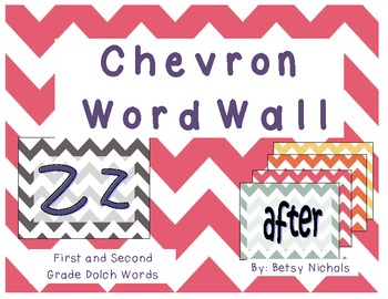 Word Wall- Chevron (First and Second Dolch)