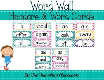 Word Wall {Chevron Polka Dot Theme}