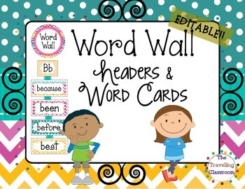 Word Wall {Chevron Polka Dot Theme}