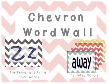 Word Wall- Chevron (Pre-Primer/Primer)