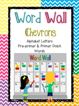 Word Wall - Chevrons (Pre-Primer & Primer Dolch Words)