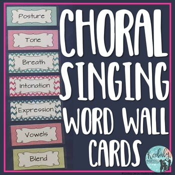 Word Wall {Choral Singing}
