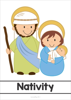 Christmas Nativity Word Wall FREE