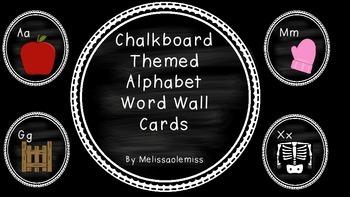 Word Wall Circle Cards-Chalk Theme
