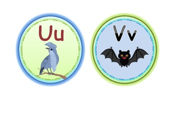 Word Wall Circles with Animal Friends