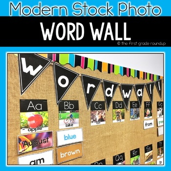 Word Wall Classroom Decor, Modern Stock Photo Styled