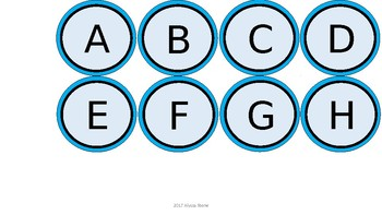 Word Wall & Clock Labels - Aqua