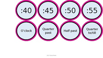 Word Wall & Clock Labels - Black & Pink