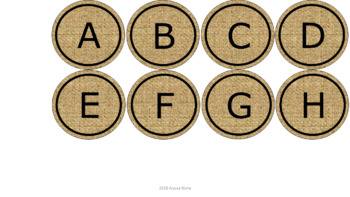 Word Wall & Clock Labels - Burlap