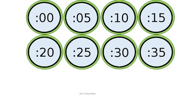 Word Wall & Clock Labels - Green