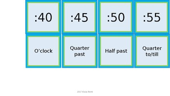 Word Wall & Clock Labels - Lime & Teal