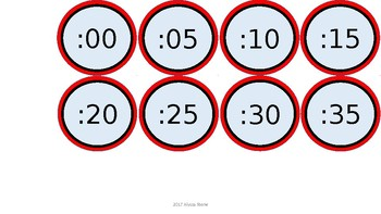 Word Wall & Clock Labels - Red & Black