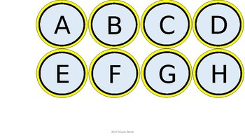 Word Wall & Clock Labels - Yellow