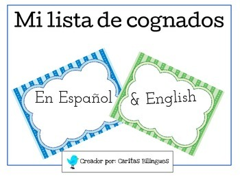 Word Wall, Cognates, Cognados