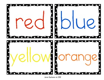 Word Wall Color Words