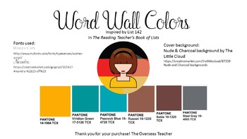 Word Wall: Color Words