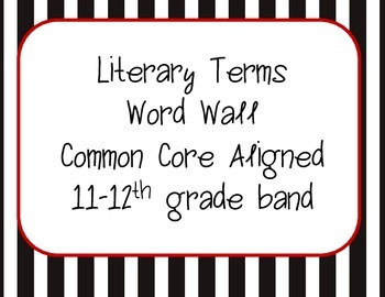 Word Wall Common Core ELA 11-12th Grade Band