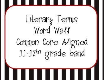 Word Wall Common Core ELA 11-12th Grade Band