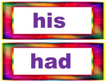 Word Wall Common Core Words (first grade)