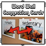 Word Wall Connection Cards Game