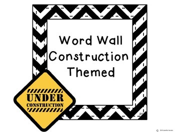 Word Wall: Construction Theme