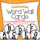 Word Wall {Construction Themed}