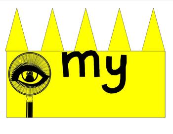 Sight Word Crowns that are Catchy! The Spy of I, the Eye of My, and more!