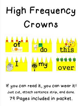 Sight Word Crowns that are Catchy! The Spy of I, the Eye o