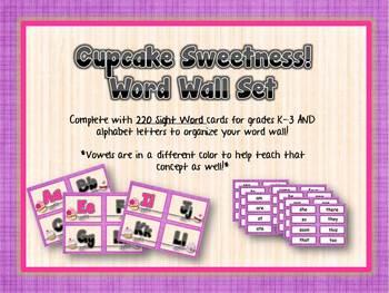 Word Wall - Cupcake Sweetness!