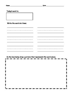 Word Wall Daily Activity Book