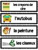 Word Wall: Dans la salle de classe